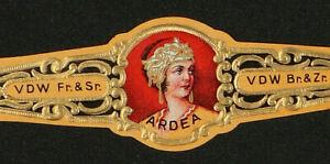 233Rt-BELGIUM-Vitola-Antigua-Old-Cigar-Band-Marca-ARDEA-VDW-Fr-amp-Sr