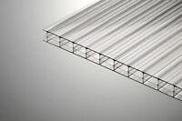 16mm Clear Triple Wall Polycarbonate Sheet 4000mm Long X1000mm Wide Stock Sale