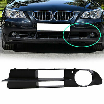 X AUTOHAUX Car Front Bumper Left Side Fog Light Grill Lamp Cover 51117049243 for BMW 525i 2004-2007