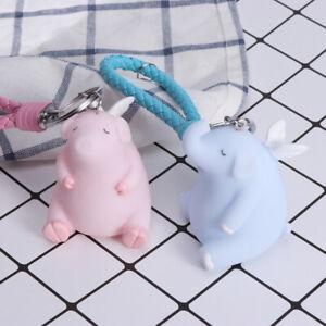Cartoon-Angel-Elephant-Pig-Key-Ring-Car-Keychain-Bag-Pendant-Charm-Christmas-Bir