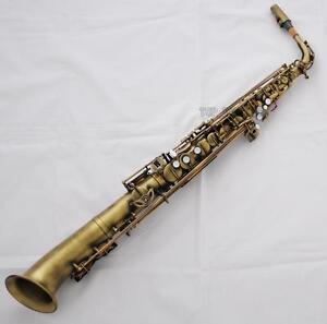 Professional-Eb-Straight-Alto-Saxophone-Antique-Brass-Saxello-Sax-Leather-Case