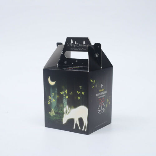 2019 Christmas Deer Apple Party Paper Favour Gift Cupcake Lunch Carrier Boxes