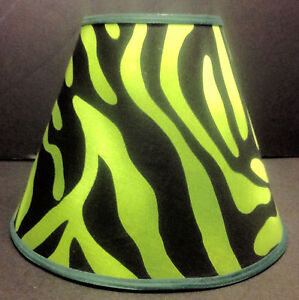 Details About Green Zebra Print Lampshade Handmade Lamp Shade