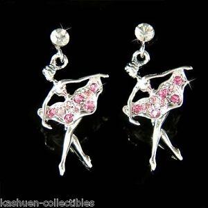 Image Is Loading Pink W Swarovski Crystal Ballerina The Nuter Ballet