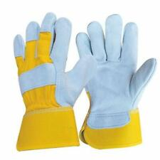 2 Pairs Cowhide Leather Work Safety Gloves Welding Working Gloves Free Size New