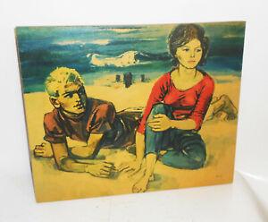 Vintage-DDR-Bild-Kunstdruck-Wandbild-Walter-Womacka-Am-Strand-Deko-GDR-Print