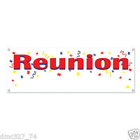 Reunion Family School Party Event Decoration Reunion Sign Banner 60 X 21