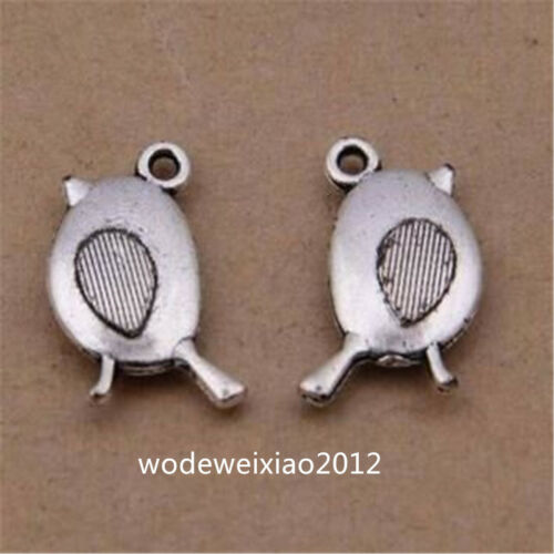 30pc Tibetan Silver Bird Animal Pendant Bracelet Charms Jewelry wholesale JP1198