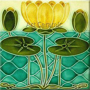 Art Nouveau Reproduction Decorative Ceramic tile 176 | eBay