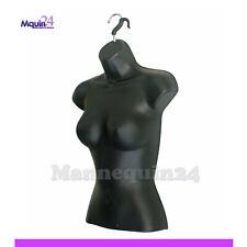 Female Torso Mannequin From Black Hanging Dress Body Form