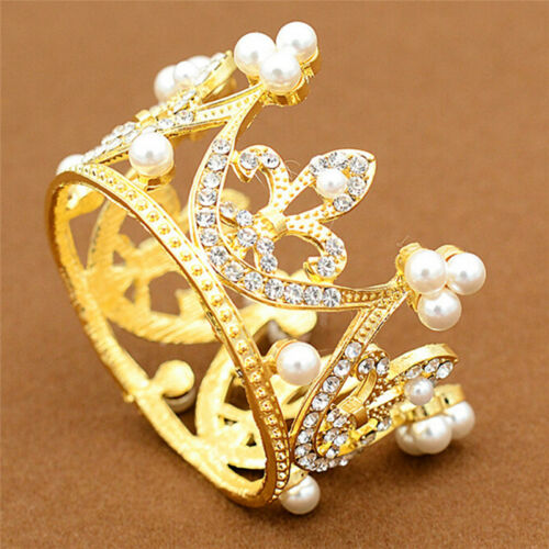 Wedding Bridal Crown Jewelry Pearl Queen Princess Crown Crystals Hair AccesWTYN