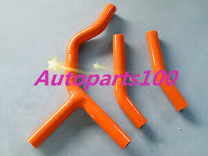Orange-Silicone-Radiator-Hose-kit-for-KTM-125SX-200SX-2003-2006-2004-2005