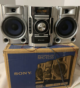 Sony MHC-EC55 Mini HiFi FM/AM MP3 CD Changer Stereo System No Remote With Box