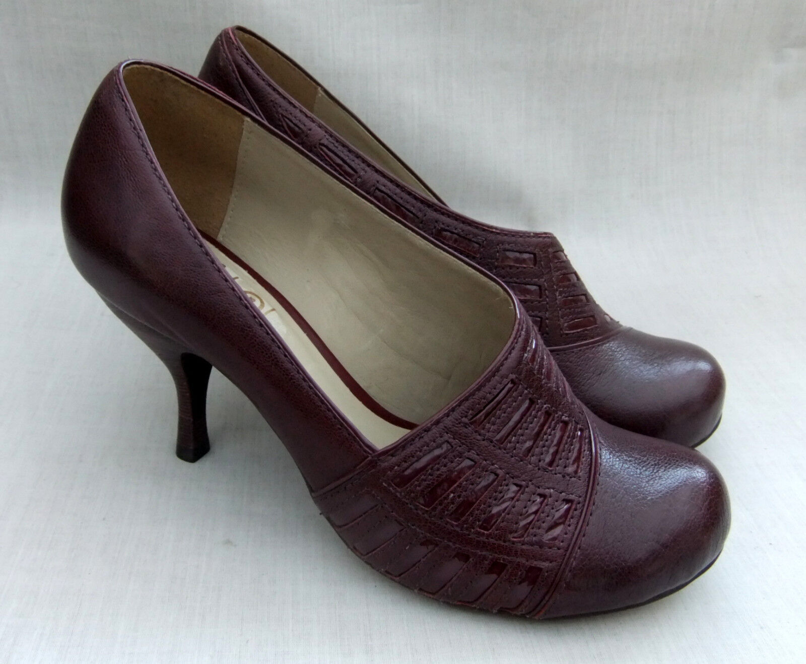 NEW CLARKS HANDCRAFTED ASHA VIEW femmes BORDEAUX LEATHER chaussures