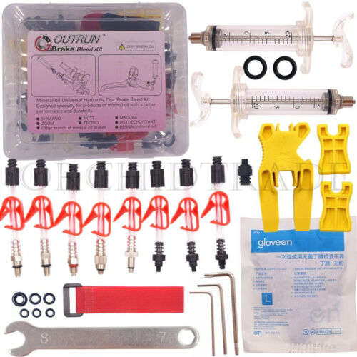 Bicycle Hydraulic Disc Brake Bleed Kit tool for TEKTRO SHIMANO MAGURA ZOOM CSC