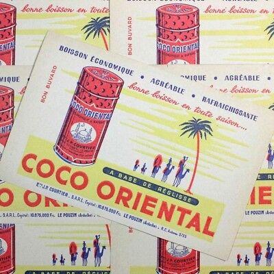 Papier Buvard Coco Oriental Réglisse Confiserie Ancienne Illustration Pub 1960
