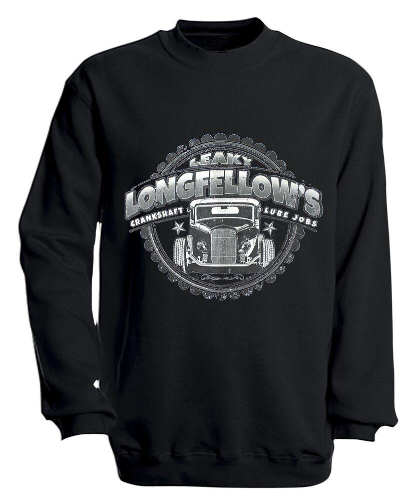 (10281-1 Noir) Sweat Trendy Pull S M L Xl Xxl 3xl 4xl - Longfellows