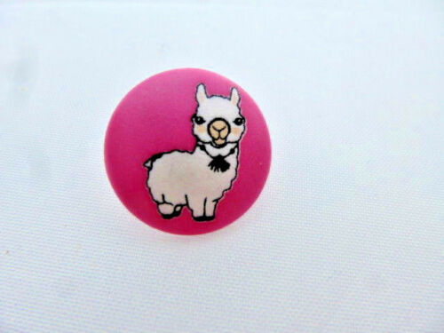 Botón de niños botón con corchete lama rosa blanco UK 310465