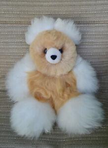 Handmade by skilled peruvian artisans. Baby alpaca teddy bear 12 inches