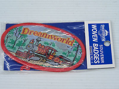 VINTAGE DREAMWORLD GOLD COAST EMBROIDERED SOUVENIR PATCH WOVEN CLOTH BADGE