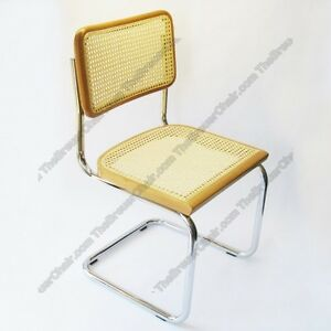 Image Is Loading Marcel Breuer Cesca Cane Side Chair In Honey
