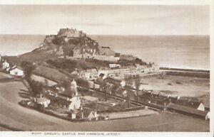 Channel Islands Postcard - Mount Orgueil Castle and Harbour - Jersey  Ref TZ6209