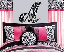 ZEBRA INITIAL Wall Decal Sticker mural ear animal decor headphones teen room