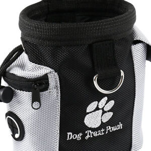 Dog-Treat-Bag-Poo-Pouch-Bags-Holder-Dispenser-Waist-Belt-Pet-Training-Walking-MH
