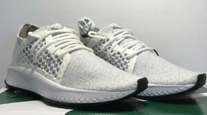 4d17a818329d6e Puma Mens Size 8 Tsugi Netfit Evoknit White Grey Training Running ...