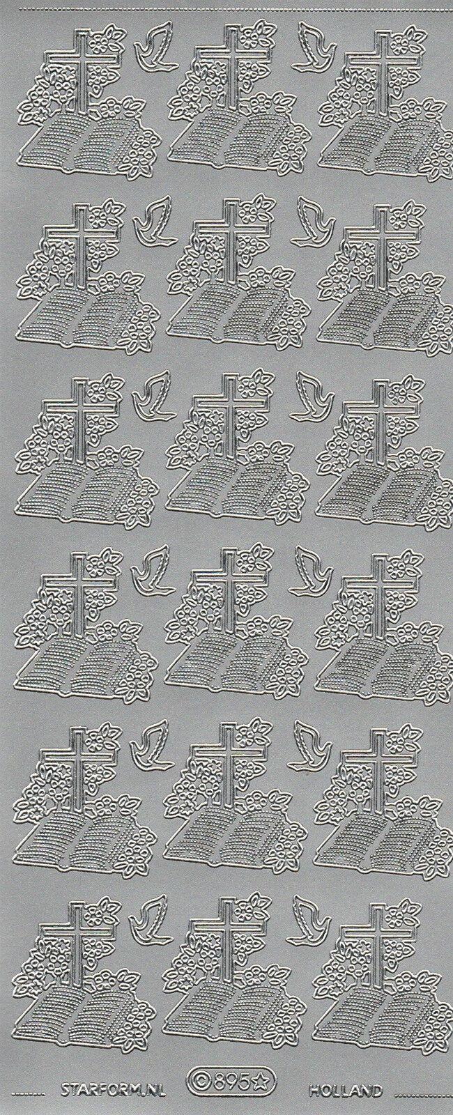 Starform Outline Stickers N° 895 Bible /& Croix Communion Auto-collant Pell Offs