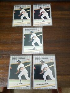 Lot-of-5-1989-Fleer-299-ROBERTO-ALOMAR-HOF-ROOKIE-CARDS-San-Diego-Padres