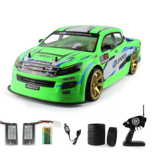Doppelbatterie 70km//h 2,4G RC Car 4WD High Power LED Headlight 1:10 Racing Truck
