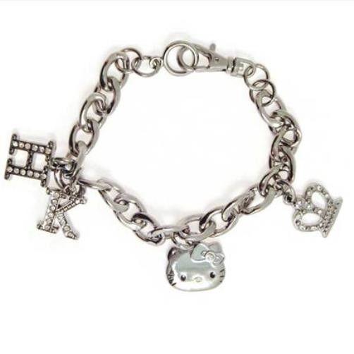 Hello Kitty lovely - Cyrstal Bracelet with Crown pendant - lovely Kitty gift idea cc53fb