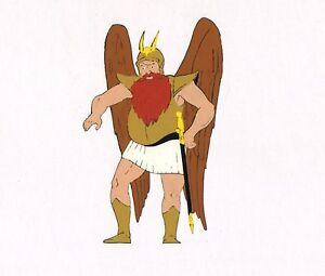 Flash-Gordon-King-VULTAN-Filmation-Original-Production-Animation-Cel-Matted