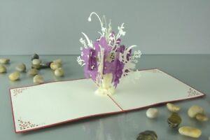 Blumen 3 D Pop Up Grusskarte Geburtstag Blumenstrauss Geldgeschenk