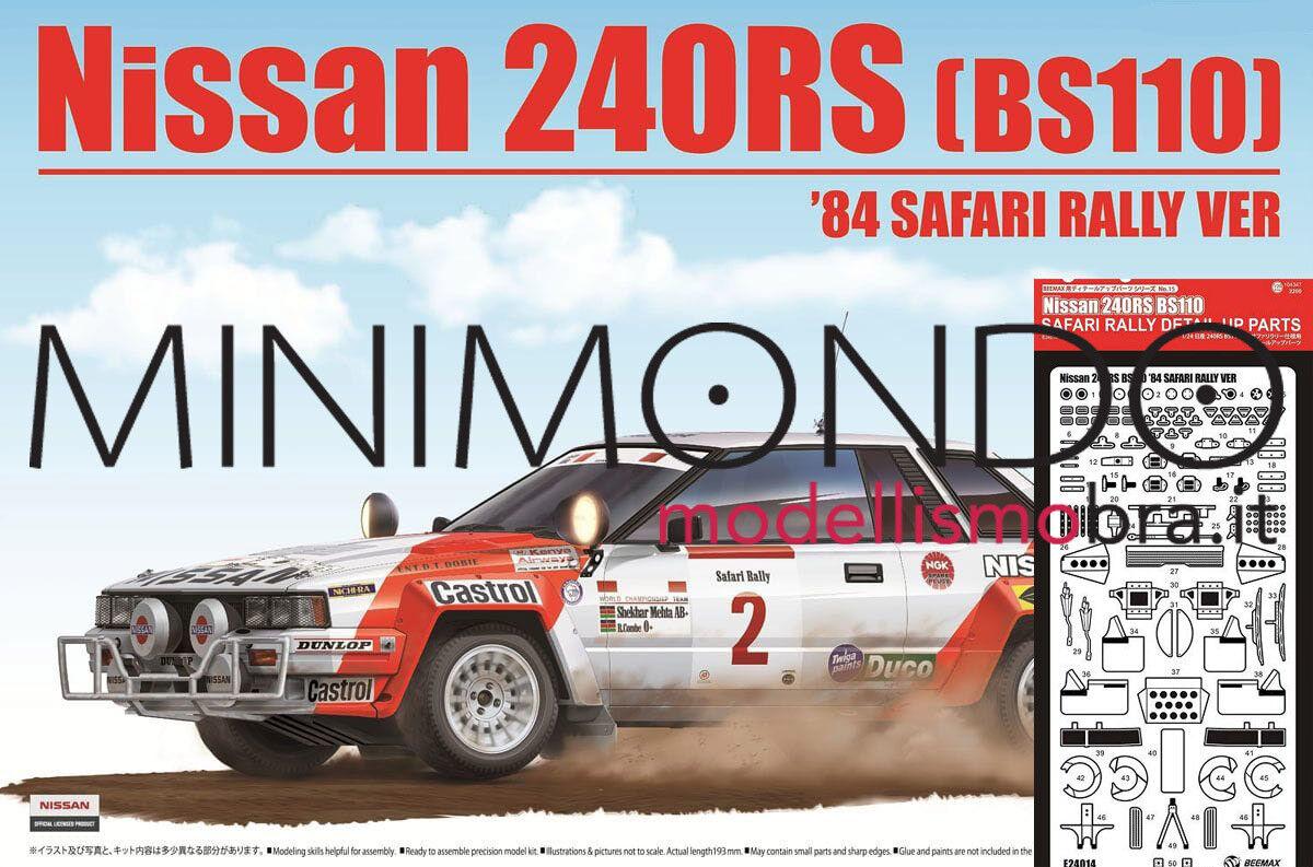 KIT NISSAN 240RS BS110 RALLY SAFARI 1984 + GRADE UP SET 1 24 24014 BEEMAX 240 RS