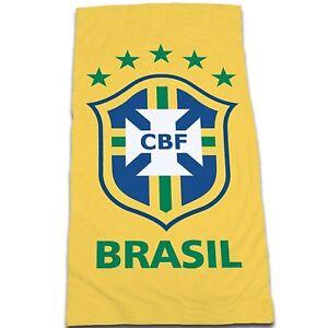 Officiel-bresil-football-soccer-team-plage-serviette-de-bain-100-coton-coupe-du-monde-2014