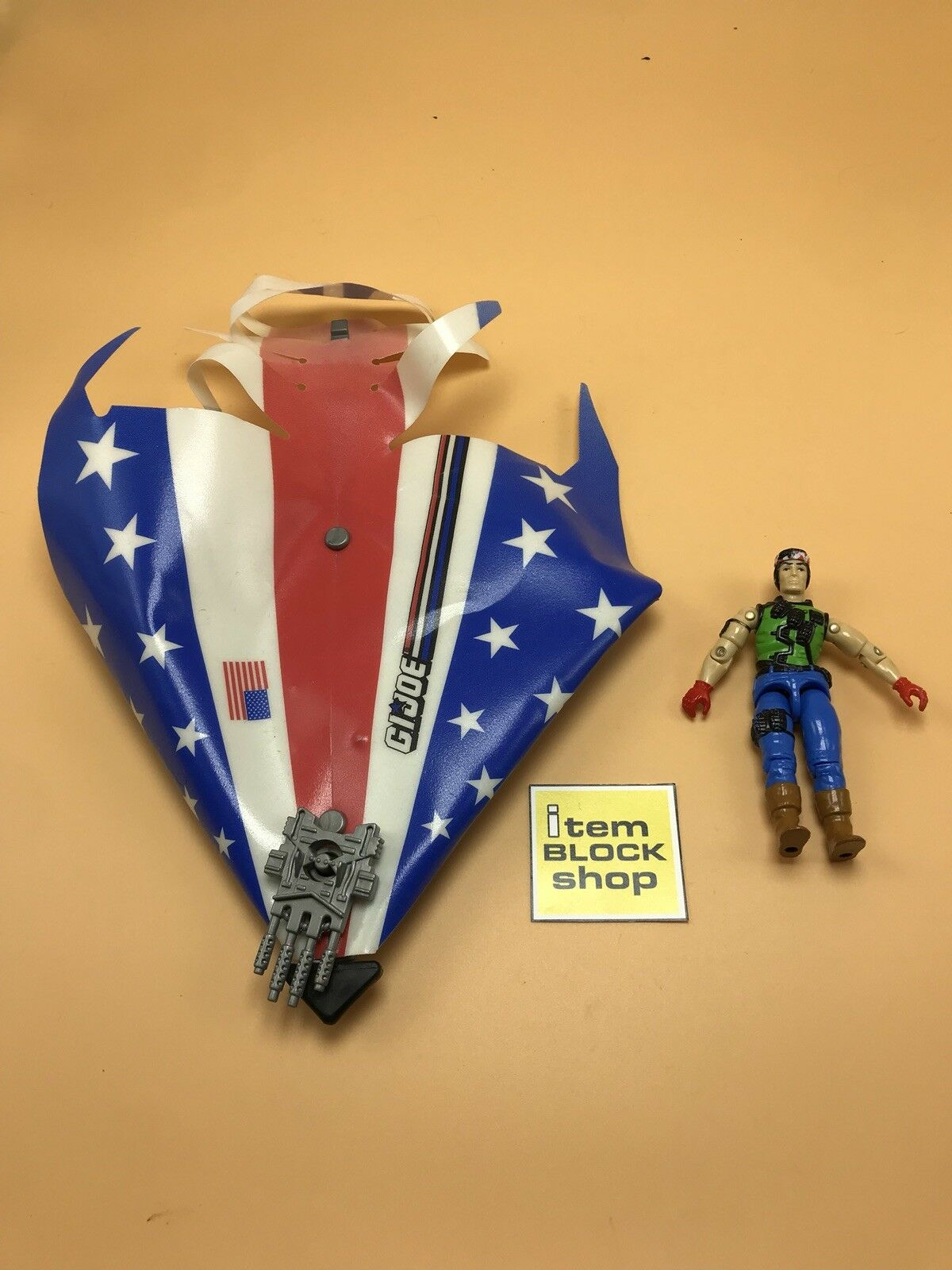 1992 GI Joe Air Commandos Aerial Craft Glider and Spirit v3 Figure