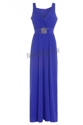 LONG BRIDESMAID FORMAL GOWN BALL PARTY COCKTAIL EVENING PROM BUCKLE MAXI DRESS