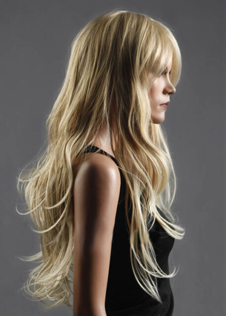 Long Fashion NEW  Western Womens Natural Healthy Hair Wave Curly Blonde Wig Wigs
