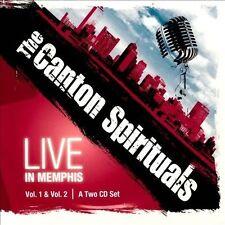 Live in Memphis, Vol. 1 & Vol. 2 [Digipak] * by The Canton Spirituals (CD,...