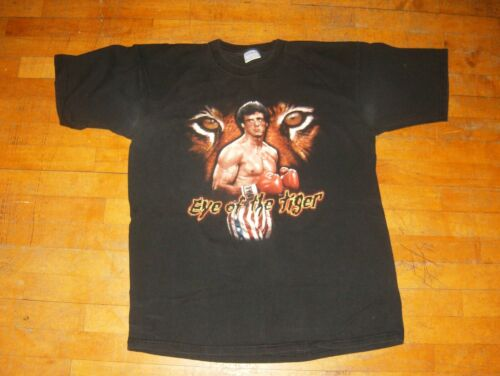 Rare!! The Famous ROBERT ROCKY BALBOA The Italian Stallon Rocky Film Series T-Shirt Medium Size