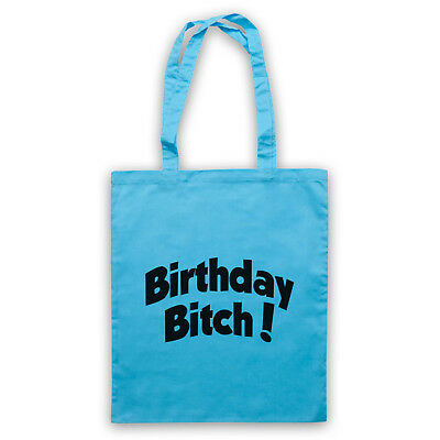 BIRTHDAY BITCH SLOGAN FUNNY COMEDY SLOGAN CELEBRATION SHOULDER TOTE SHOP BAG