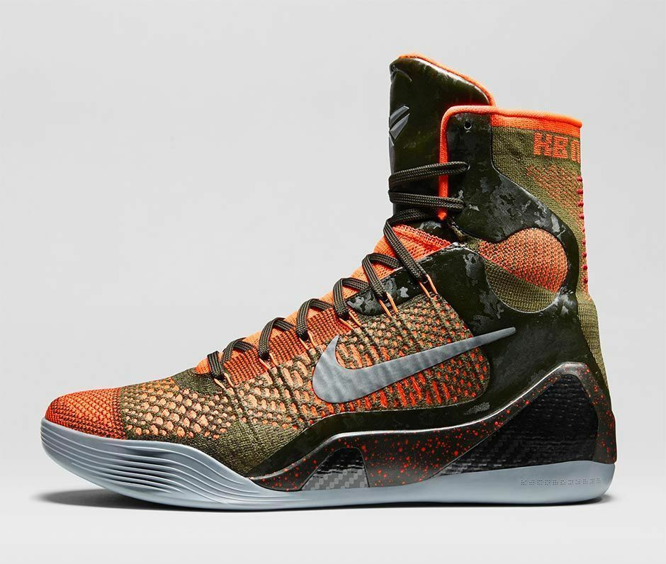 Nike Kobe IX 9 Elite Sequoia Hyper Crimson Red size 13. 630847-303. perspective