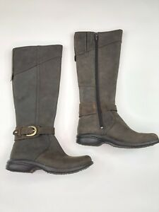 4b2baa36c49 Details about Merrell Captiva Launch Espresso Buckle-Up Womens Brown  Leather Boots Size 5