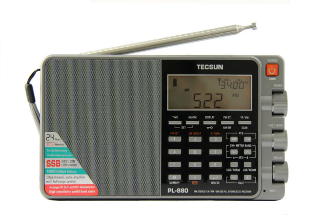 TECSUN PL-880 (grey) PLL Triple Conversion AM/FM/LW/SW SSB Radio << 8820 >>