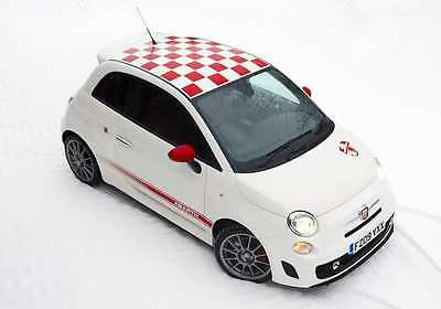 Fiat 500 roof squares vinyl stickers graphics decals (abarth style)