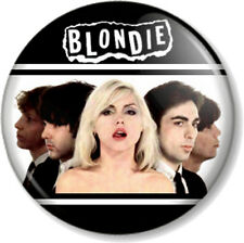 "BLONDIE BAND 25mm 1"" Pin Button Badge Logo Punk Rock Pop Music Debbie Harry B&W"