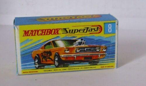 REPRO BOX MATCHBOX Superfast Nº 08 Wild Cat DRAGSTER