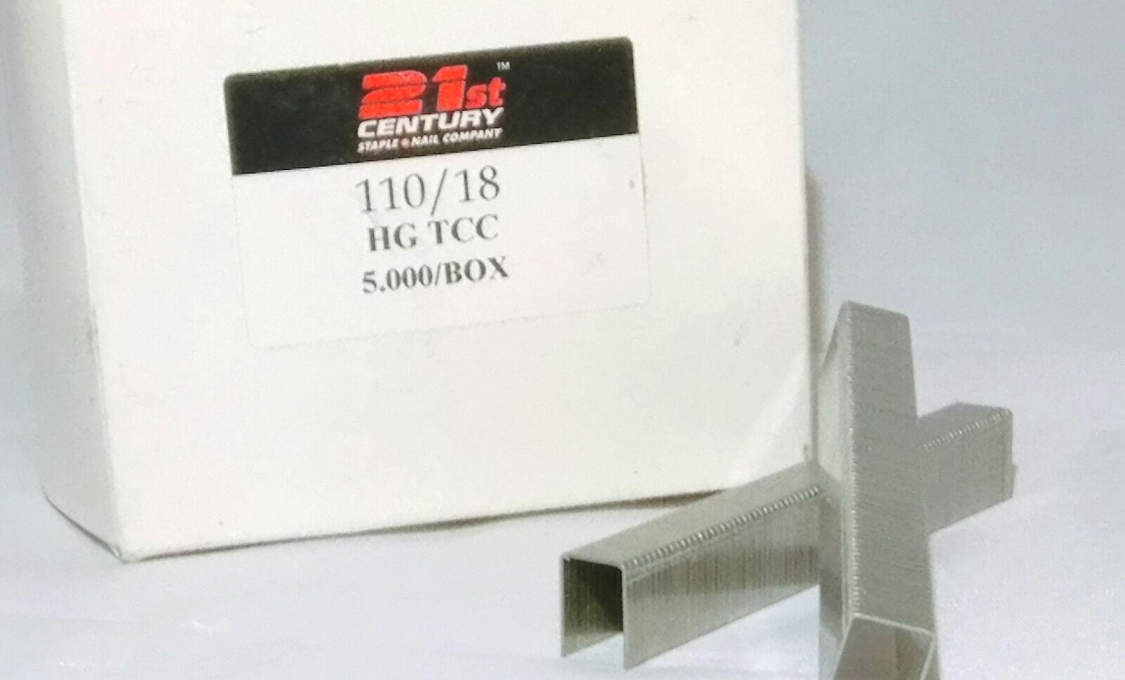 21st CENTURY 110/18 BEDDING PLIER STAPLES 5 BOX BUNDLE
